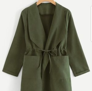 Jackets & Blazers - BUY 1 GET 1 FREE GREEN UTILITY COAT WITH POCKETS